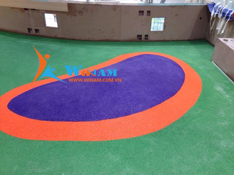 Khu vui chơi trẻ em đẹp và an toàn hơn với sàn cao su dạng hạt