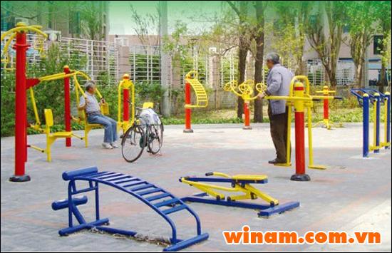 Rèn luyện sức khỏe với Thiết bị tập thể dục ngoài trời cùng Winam