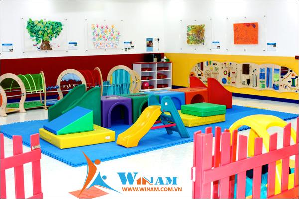 Kho thiết bị vui chơi và giáo dục mầm non đồ sộ do Winam cung cấp